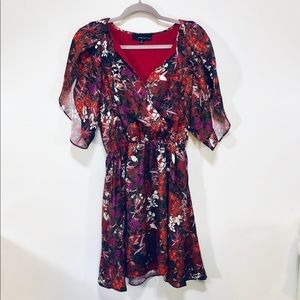 Anthropology   Floral Print Crossover Dress